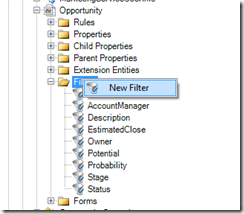 Application Architect Opportunity Filter