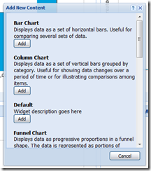 New SalesLogix Web SP3 Dashboard Display Type Dialog