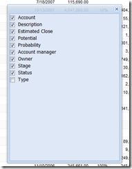 New SalesLogix opportunity Filter for Type