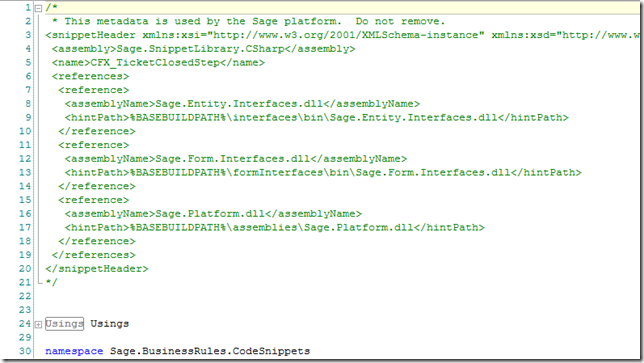 Adding an assembly reference to code files in the SalesLogix