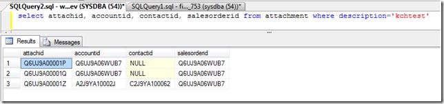 SalesLogix Attachment OnBeforeInsertcustom SQL results