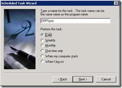 Sage ERP Link Sync Scheduled Task Wizard 4