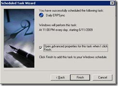 Sage ERP Link Sync Scheduled Task Wizard 7