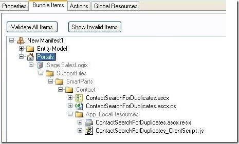 SalesLogix Manifest Adding SmartParts Support Files