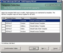 SalesLogix ERP Field Mapping 2