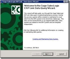 SalesLogix ERP Link Data Query Wizard 1