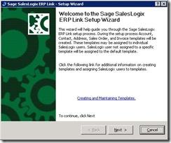 SalesLogix ERP Setup Wizard 1
