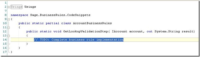 SalesLogix Custom Entity Property Code Shell